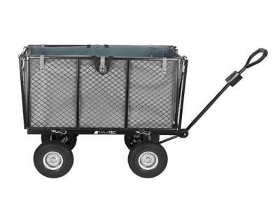Carucior transport gradina 350 kg,roti pline PU maner reglabil,rabatabil  husa capacitate 250 litri Malatec5