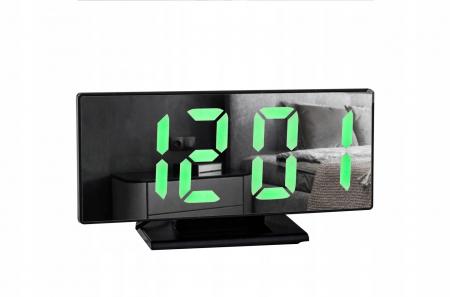 Ceas cu alarmă oglinda ceas termometru electronic cu LED 4 in 11
