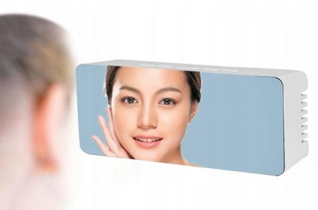 Ceas cu alarmă tip oglindă 3 in 1 - alb [11]
