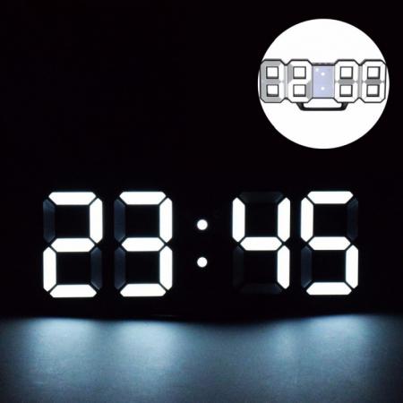 Ceas digital LED termometru data  functie alarma  fixare perete 12/24h2
