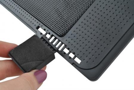 Cooler Laptop cu ventilator iluminat, 17 inch, 2 port USB, inaltime ajustabila, Negru [9]
