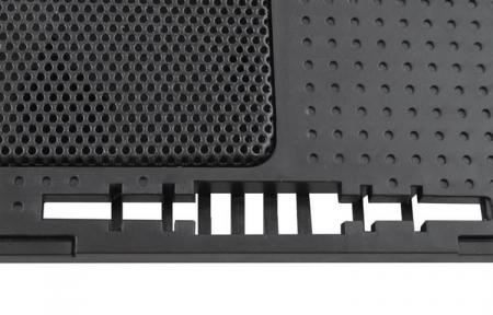 Cooler Laptop cu ventilator iluminat, 17 inch, 2 port USB, inaltime ajustabila, Negru [4]