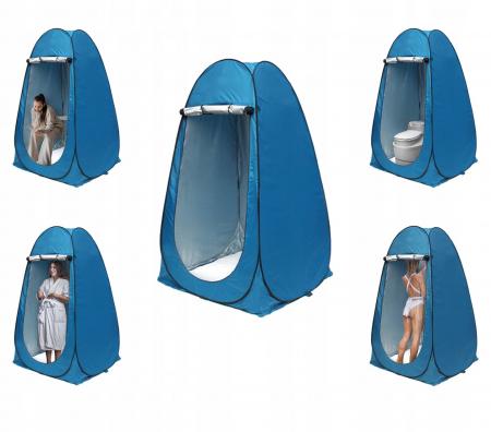 Cort dus camping toaleta garderoba  albastru dimensiune 110x 190 cm [4]