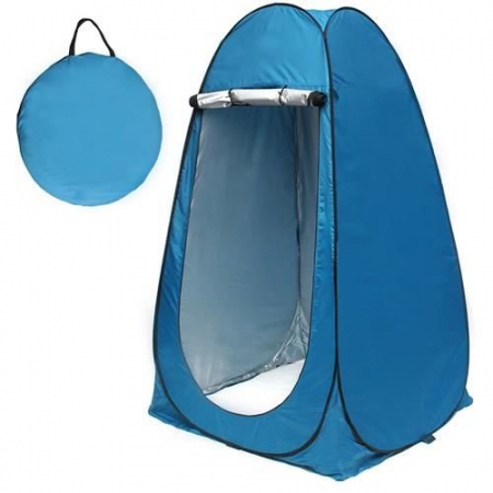 Cort dus camping toaleta garderoba  albastru dimensiune 110x 190 cm [5]
