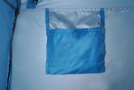 Cort dus camping toaleta garderoba  albastru dimensiune 110x 190 cm [6]