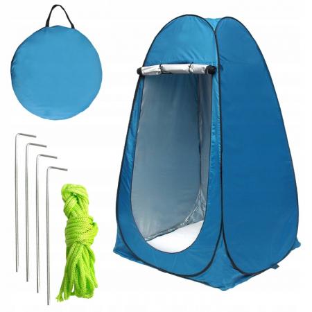 Cort dus camping toaleta garderoba  albastru dimensiune 110x 190 cm [0]