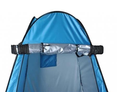 Cort dus camping toaleta garderoba  albastru dimensiune 110x 190 cm [3]