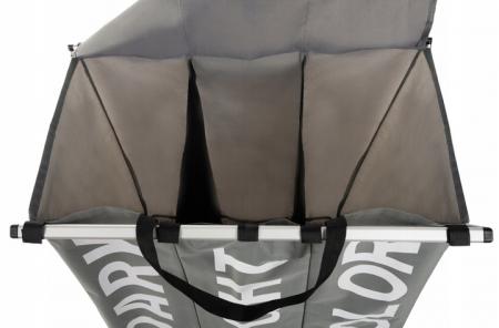 Cos pentru rufe 3in1, Gri,55x40x60cm [1]