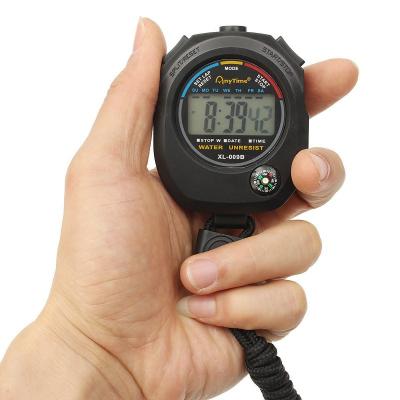 Cronometru digital cu busola,  LCD, afisaj ora, calendar, functie alarma, snur, negru [0]