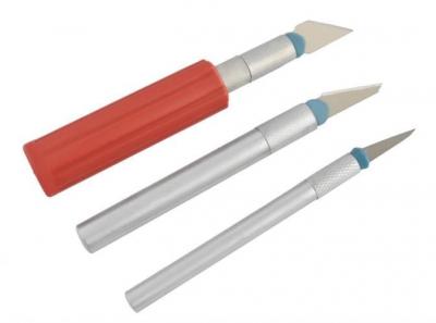 Cuțite de modelat precise de artizanat tip bisturiu lame de modelat cu banda magnetica - set 16 buc cutie3