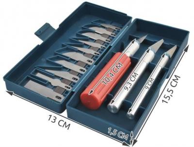 Cuțite de modelat precise de artizanat tip bisturiu lame de modelat cu banda magnetica - set 16 buc cutie11