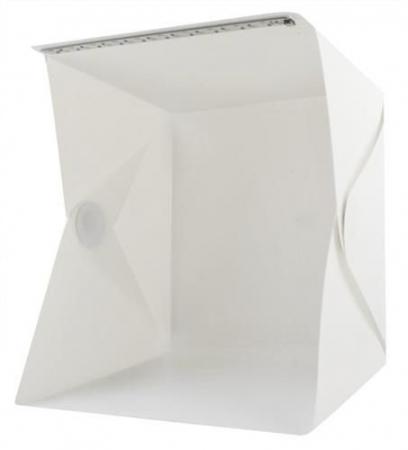 Cub foto pliabil, 20 LED-uri SMD, microUSB 5V, fundal alb negru, PVC [8]