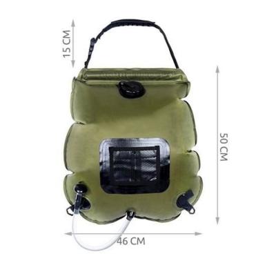 Dus solar portabil pentru camping, MT MALATEC, capacitate 20 litri, termometru, buzunar dublu [11]