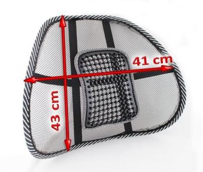 Suport lombar pentru scaun birou si auto cu bile masaj prindere cu benzi elastice5