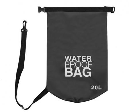 Geanta impermeabila de mare Dry-Bag 20 litri 55 x 37cm neagra [4]