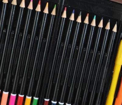 Set pictura si desen, 81 de piese, carioci, creioane acuarele servieta din lemn [5]