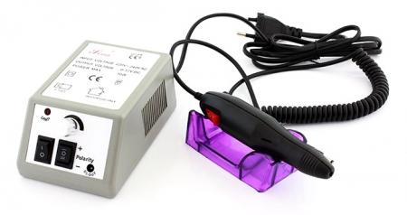 Freza Electrica pentru Unghii 6 Capete si 10 Inele Abrazive Viteza Reglabila pentru Manichiura [0]