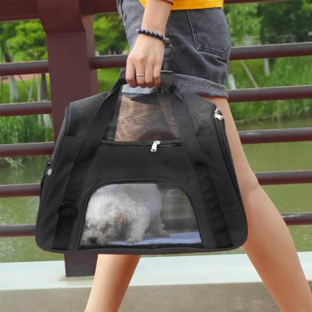 Geanta de transport animale  50x25x30 cm, Negru [3]