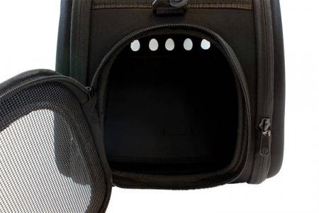 Geanta de transport animale pliabila pentru caini sau pisici de talie mica neagra [3]