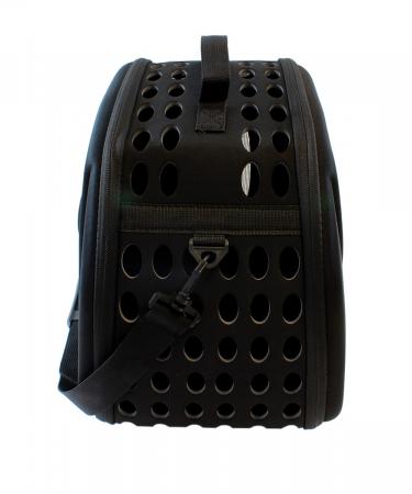 Geanta de transport animale pliabila pentru caini sau pisici de talie mica neagra [2]