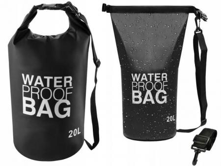 Geanta impermeabila de mare Dry-Bag 20 litri 55 x 37cm neagra [0]