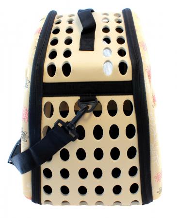 Geanta pentru Transport Animale de Companie talie mica ,cu inchidere dubla, 35x20x22 cm Bej [5]