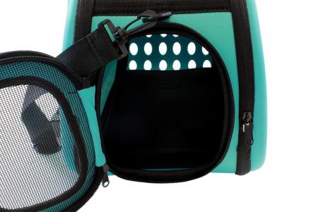Geanta pentru Transport Animale de Companie, pliabila, cu inchidere dubla, 43x30x32cm, albastru [4]