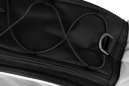 Geanta portbagaj biciclete gri capacitate 13 l, impermeabila, curea detasabila [8]