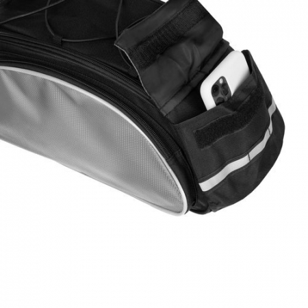 Geanta portbagaj biciclete gri capacitate 13 l, impermeabila, curea detasabila [10]