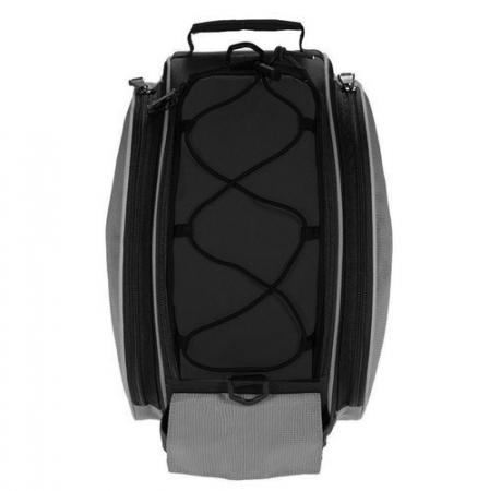 Geanta portbagaj biciclete gri capacitate 13 l, impermeabila, curea detasabila [12]