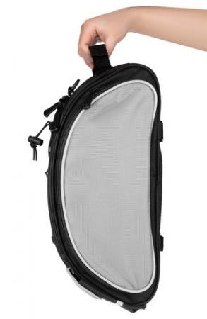 Geanta portbagaj biciclete gri capacitate 13 l, impermeabila, curea detasabila [7]