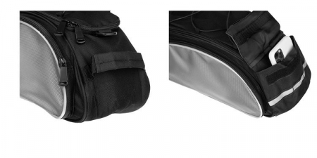 Geanta portbagaj biciclete gri capacitate 13 l, impermeabila, curea detasabila [17]