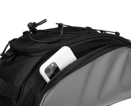 Geanta portbagaj biciclete gri capacitate 13 l, impermeabila, curea detasabila [3]