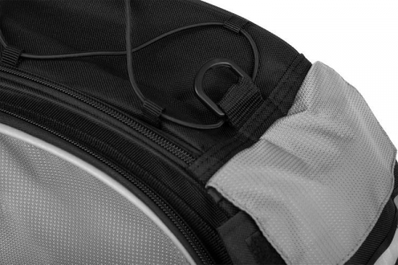 Geanta portbagaj biciclete gri capacitate 13 l, impermeabila, curea detasabila [2]
