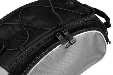 Geanta portbagaj biciclete gri capacitate 13 l, impermeabila, curea detasabila [9]