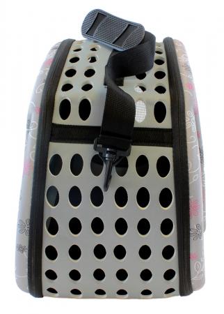 Geanta Transport Animale de Companie talie mica cu inchidere dubla 35x20x22 cm Gri [5]