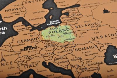 Harta lumii razuibila, 82x59 cm, text cartografie limba engleza, drapeluri [6]