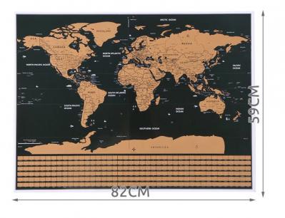 Harta lumii razuibila, 82x59 cm, text cartografie limba engleza, drapeluri [2]