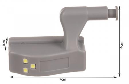 Iluminator led balamale 12v gri [8]