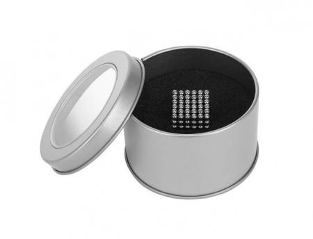 Joc Puzzle Antistres cu Bile Magnetice 216 Bucati, Diametru Bile 3mm, argintiu1