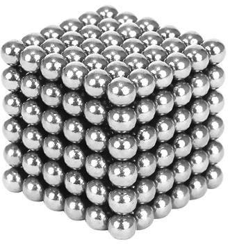 Joc Puzzle Antistres cu Bile Magnetice 216 Bucati, Diametru Bile 3mm, argintiu0