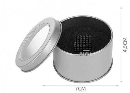 Joc Puzzle Antistres cu Bile Magnetice 216 Bucati, Diametru Bile 3mm,negru1