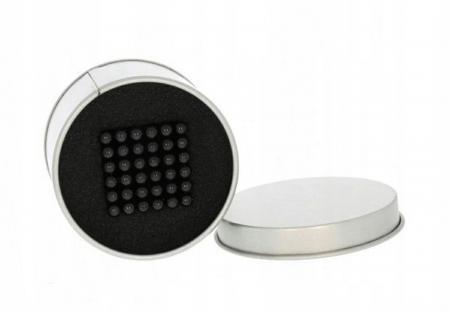 Joc Puzzle Antistres cu Bile Magnetice 216 Bucati, Diametru Bile 3mm,negru3