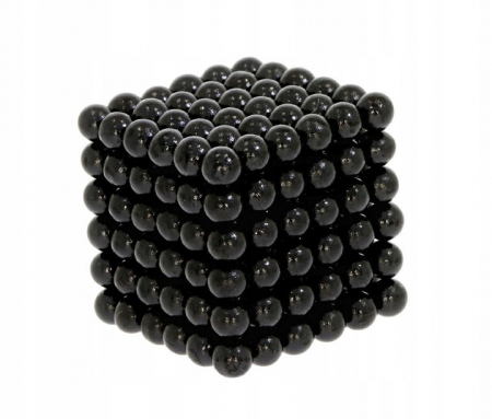 Joc Puzzle Antistres cu Bile Magnetice 216 Bucati, Diametru Bile 3mm,negru0