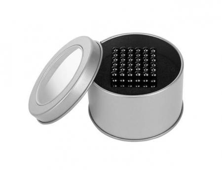 Joc Puzzle Antistres  cu Bile Magnetice 216 Bucati Diametru Bile 5mm negru [2]