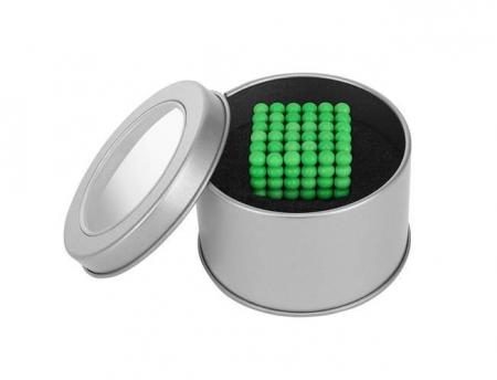Joc Puzzle Antistres  cu Bile Magnetice 216 Bucati, Diametru Bile 5mm verde fluorescent [2]