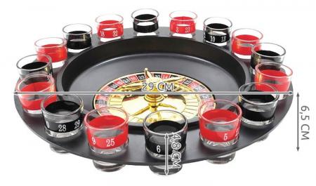 Joc Ruleta Iso trade cu pahare de shot-uri, multicolor, 29 cm diametru, 16 pahare [4]
