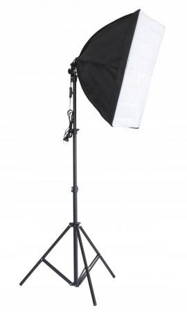 Kit Lumina Continua Softbox 70x50cm pentru Studio Foto cu 1 filtru difuzie si Suport Trepied Reglabil 78-230cm [0]