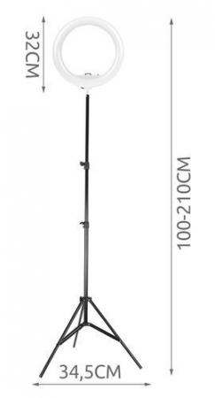 Lampa foto circulara LED cu telecomanda, lumina calda/rece/neutra  + Trepied cu Inaltime Reglabila Suport pentru Telefon si Aparat Foto [11]