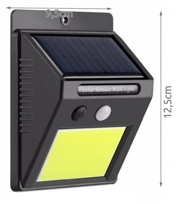Lampa solara de perete cu 48 de leduri cu senzor de lumina si miscare [4]